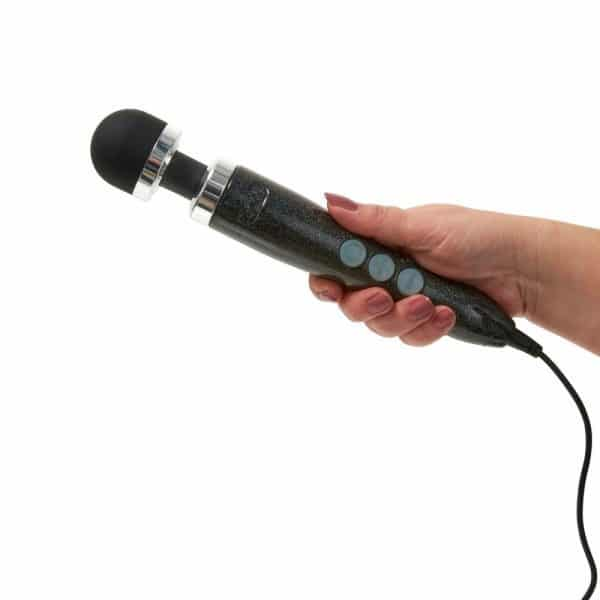 Doxy Wand Massager Number 3 Disco Black In Hand