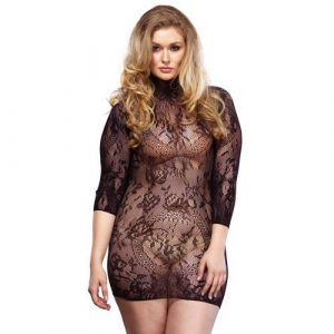Leg Avenue Floral Lace Mini Dress UK 18 to 22