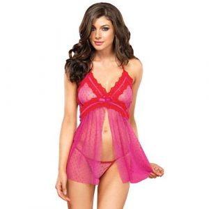 Leg Avenue Flyaway Babydoll And GString