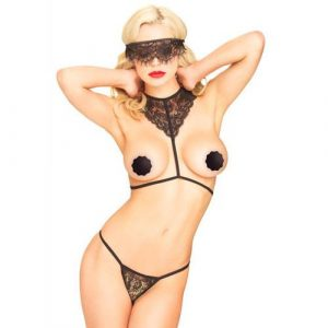 Leg Avenue Scandal Body Harness Set UK 8 to 14