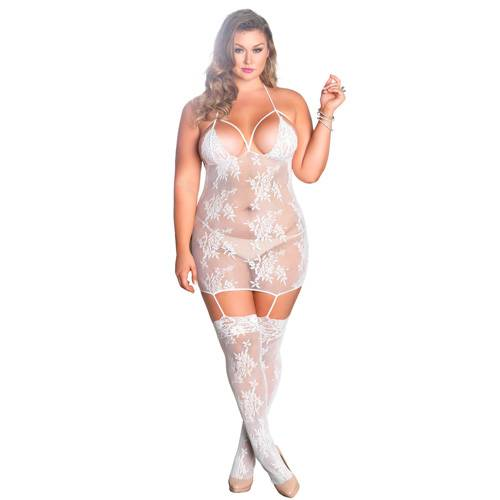 Leg Avenue Strappy Suspender Dress UK 18 to 22