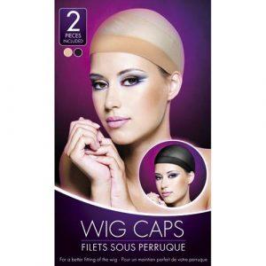 Nude And Black Wig Cap