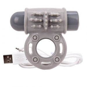 Screaming O Charged OWow Grey Vibrating Cock Ring