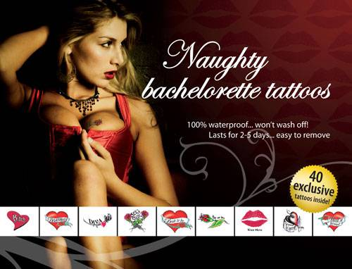 Tattoo Set Naughty Bachelorette
