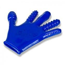 Blue Oxballs Finger Reversible JO Penetration Glove