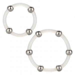 Cal Exotic Steel Beaded Silicone Cock Ring Set