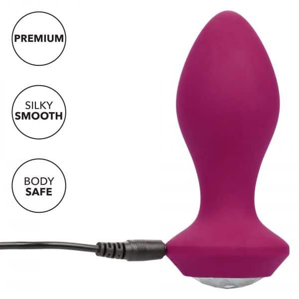 Power Gem Rechargeable Vibrating Butt Plug Crystal Probe Recharging