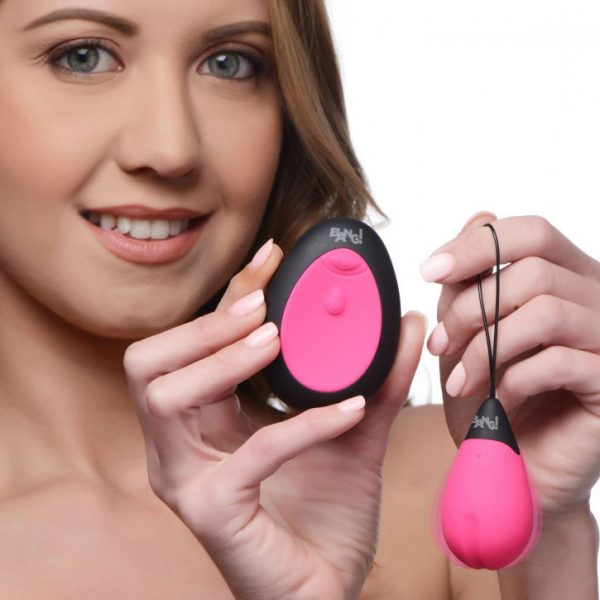 10X Silicone Vibrating Egg Pink 2
