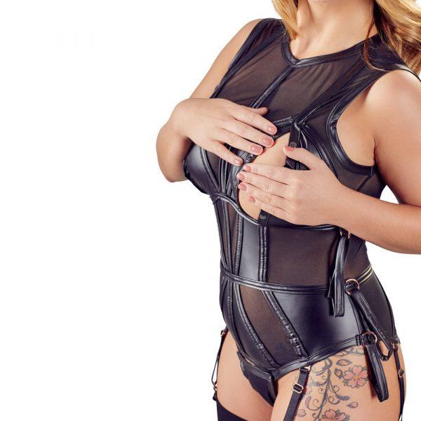 Cottelli Plus Size Bondage Bodysuit 1