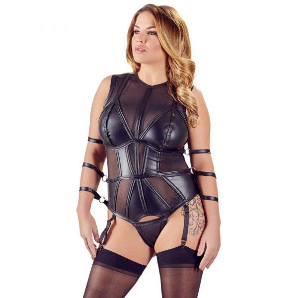 Cottelli Plus Size Bondage Bodysuit