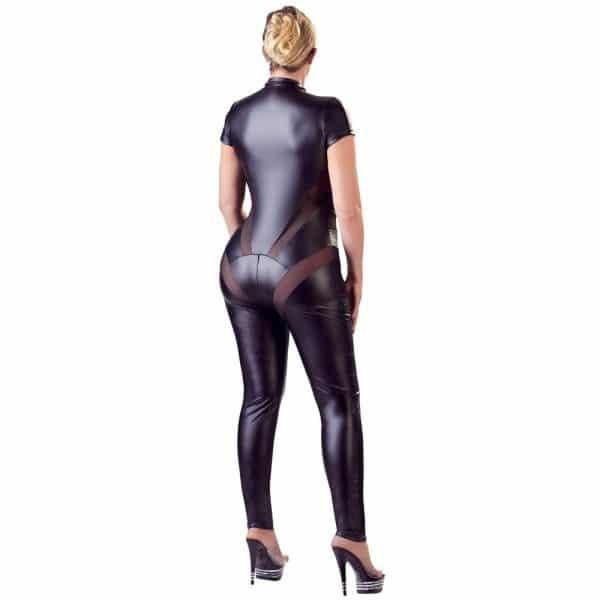 Cottelli Plus Size Jumpsuit with Net 1