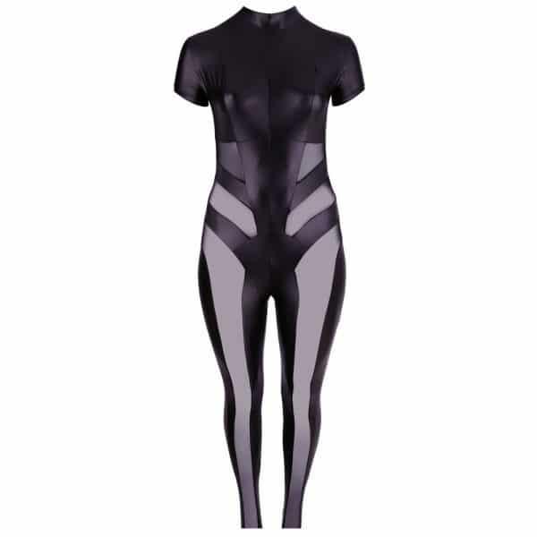 Cottelli Plus Size Jumpsuit with Net 3