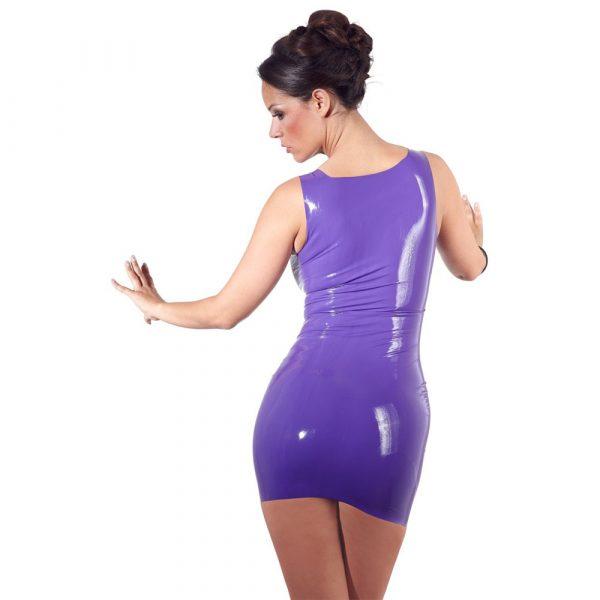 Latex Mini Dress Purple 1