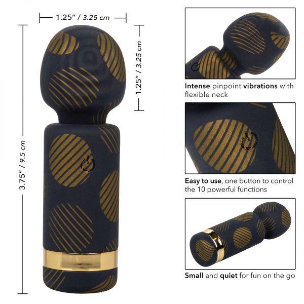 Naughty Bits Lit Clit Teenie Weenie Wand Vibrator detail