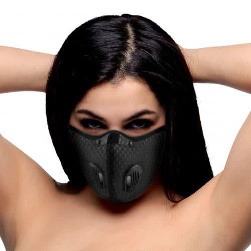 Quarantined Black Fashion Face Mask Female
