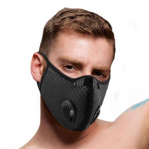 Quarantined Black Fashion Face Mask Male