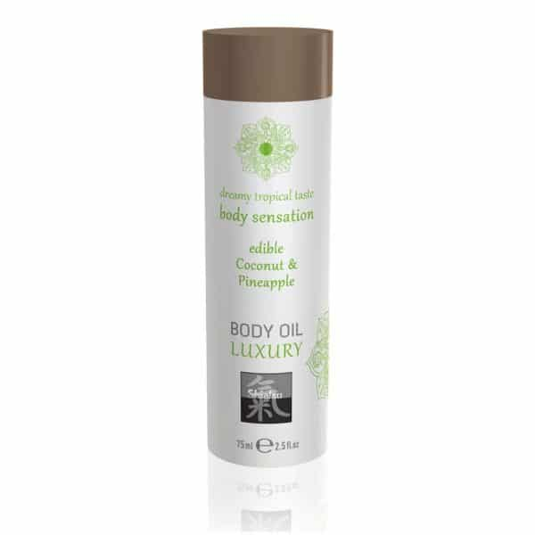 Shiatsu Luxury Body Oil Edible Coconut And Pineapple 75ml