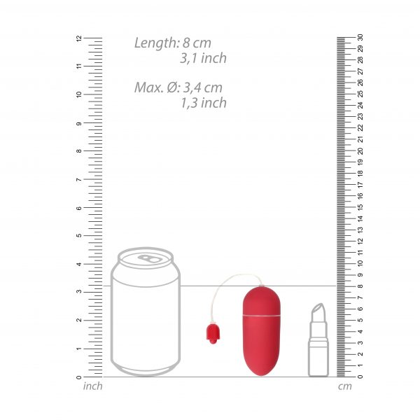 Vibrating Love Egg 10 Speed (Red) scale