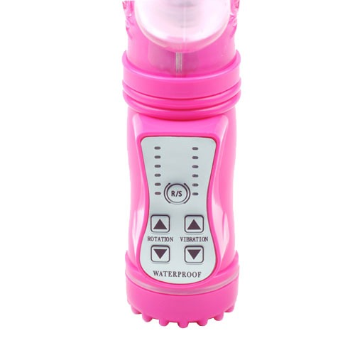 Pink Rabbit Vibrator With Thrusting Motion Controls