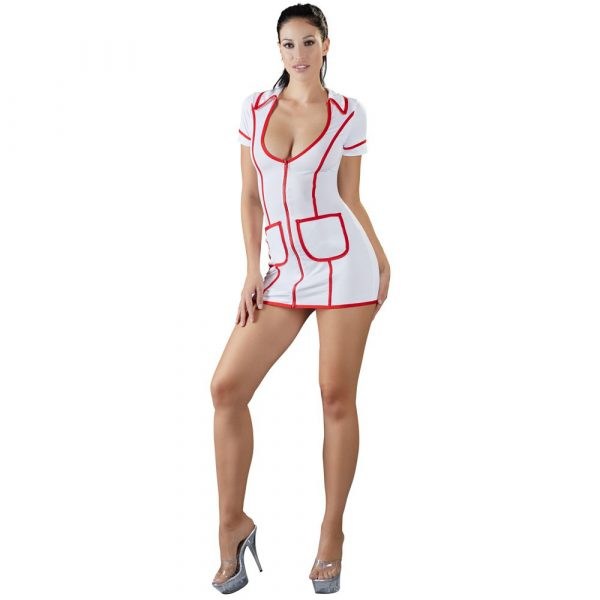 Cottelli Costumes White And Red Nurses Dress 1