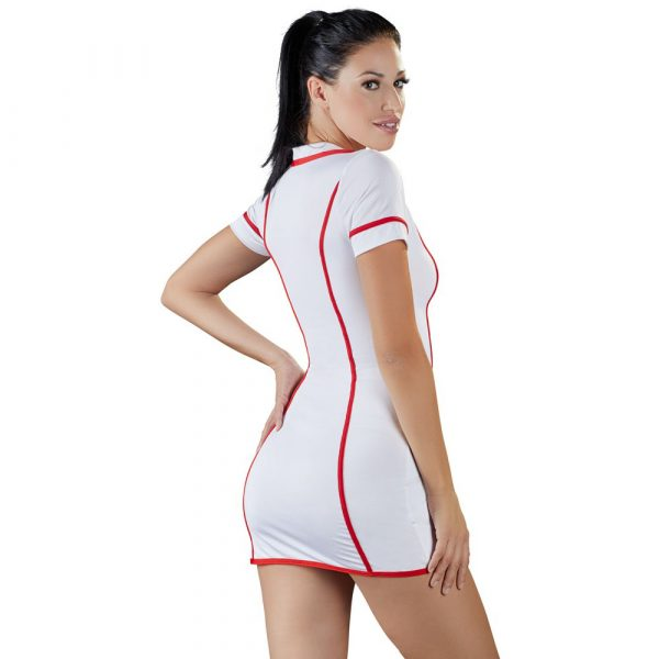 Cottelli Costumes White And Red Nurses Dress Back