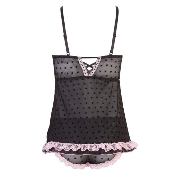 Cottelli Lingerie Babydoll And Panties - Back No Model