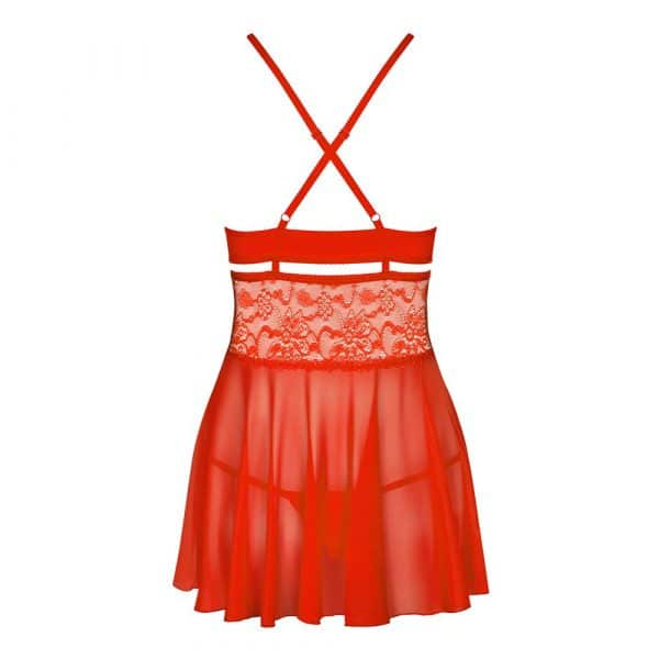 Obsessive Babydoll And String Red 2