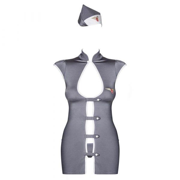 Obsessive Grey Stewardess Costume 1