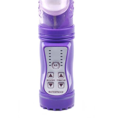 Rabbit Vibrator With Thrusting Motion (Purple) Controls
