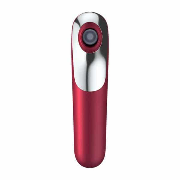 Satisfyer App Enabled Dual Love Clitoral Massager (Red) Front