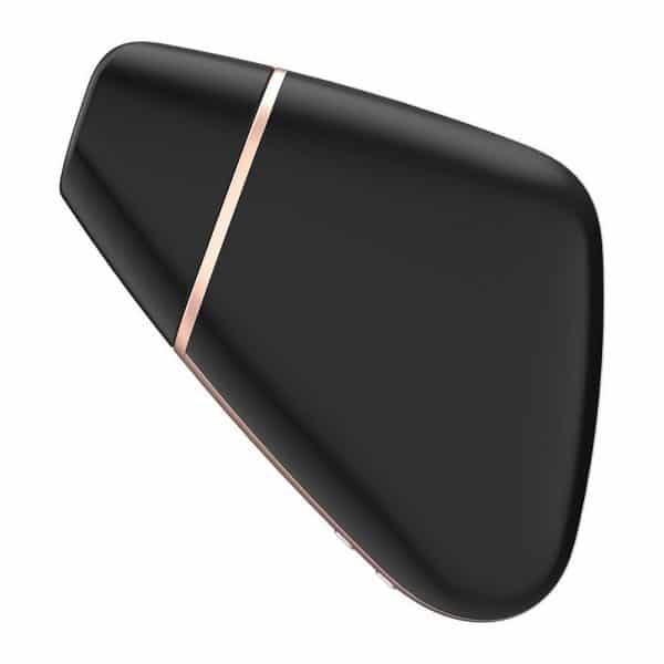 Satisfyer App Enabled Love Triangle Clit Massager (Black) Side