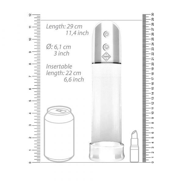 Automatic Luv Pump (Transparent) dimensions