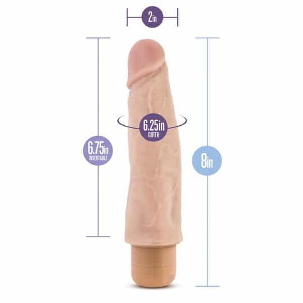 Dr. Skin Cock Vibe 14 Vibrating Cock 8 Inch Dildo Dimensions
