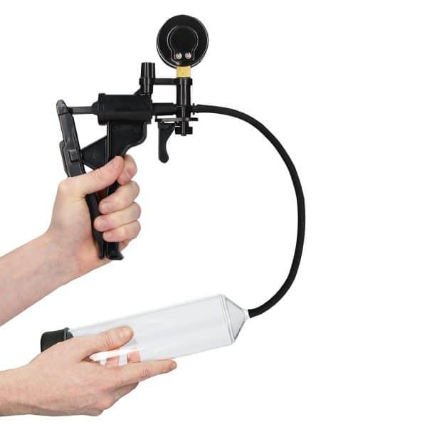 Elite Beginner Pump With PSI Gauge in hands