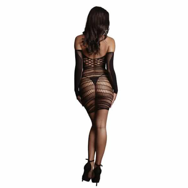 Long Sleeved Mini Dress One Size Back