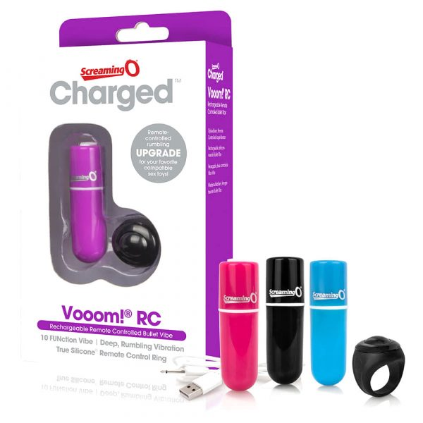 Screaming O Charged Vooom Pink Remote Control Bullet Vibrator Packaged