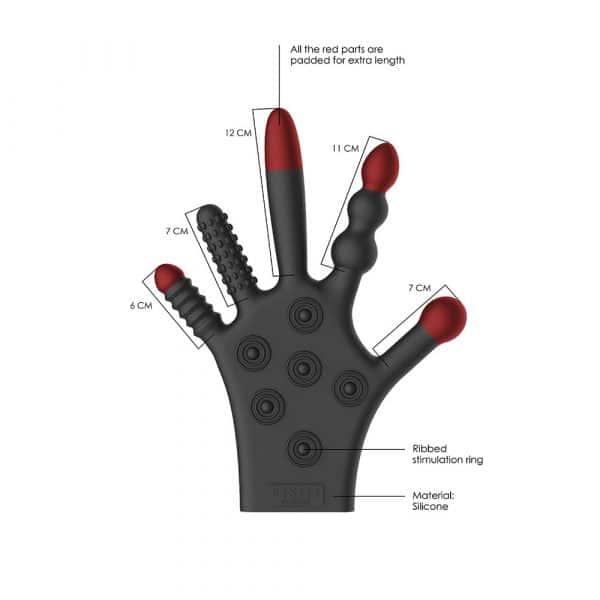 Silicone Stimulation Glove Detail