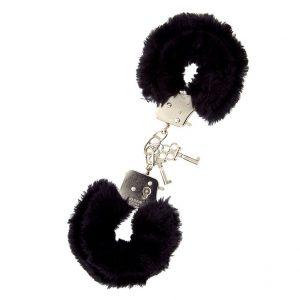 Furry Metal Handcuffs (Black)