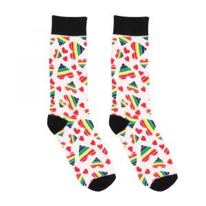 Happy Hearts Sexy Socks Size 8-12 (EU 42-46)