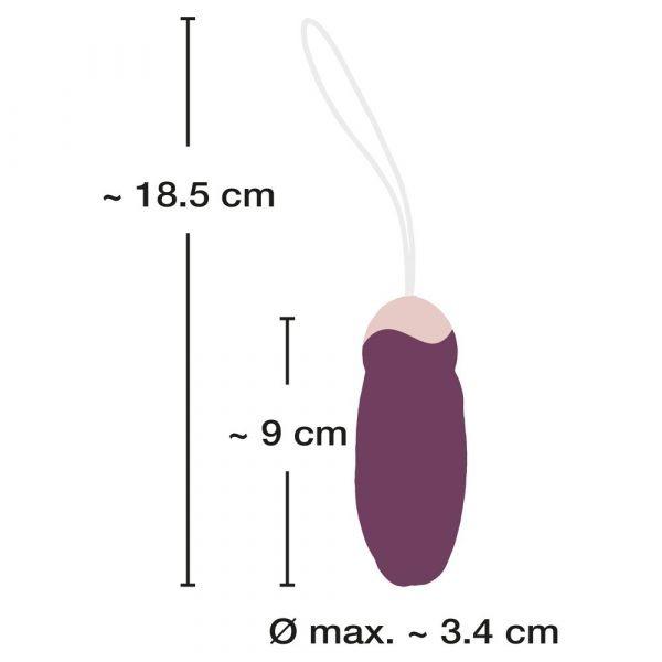 Javida Rechargeable Rotating Love Ball Egg Vibrator dimensions
