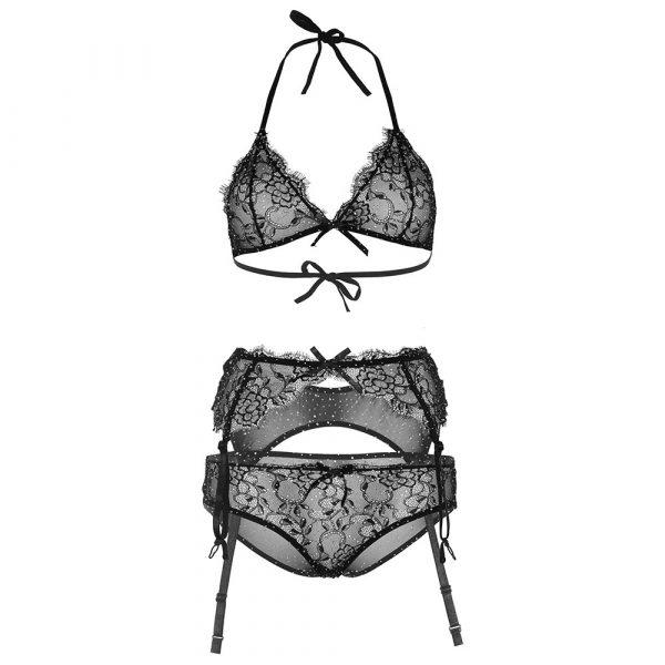 Leg Avenue Bra Top Panty and Garterbelt - Without Model