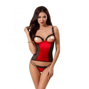 Passion Midori Red And Black Corset