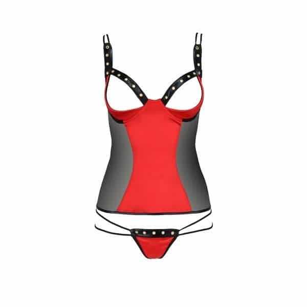 Passion Midori Red And Black Corset - No Model