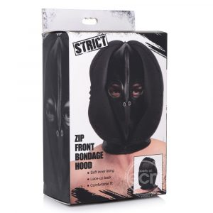 Strict Zip Front Bondage Hood - Packaged
