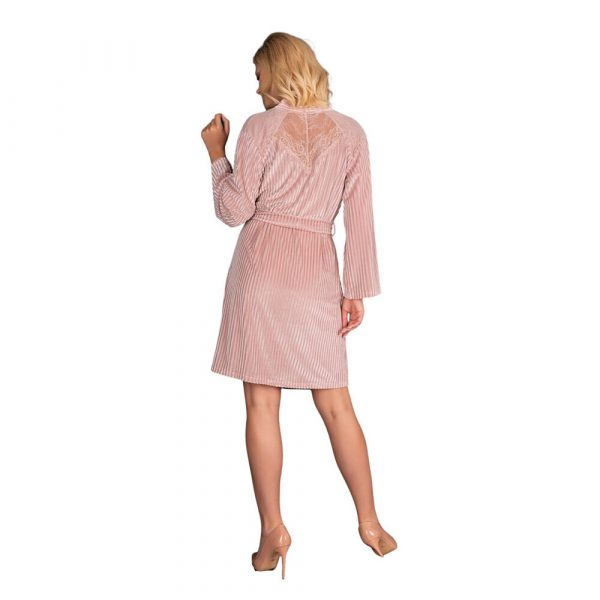 Corsetti Mikiss Dressing Gown (Pink) - Back