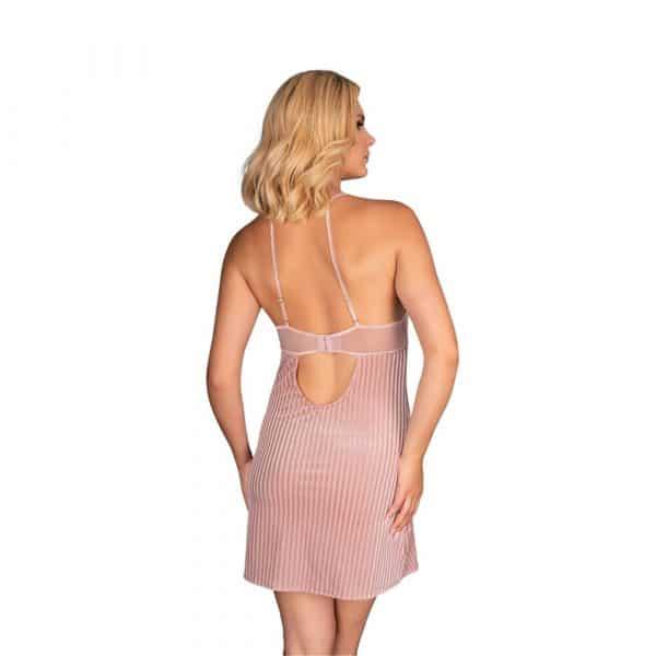 Corsetti Thorjako Nightdress And Thong (Pink) - Back